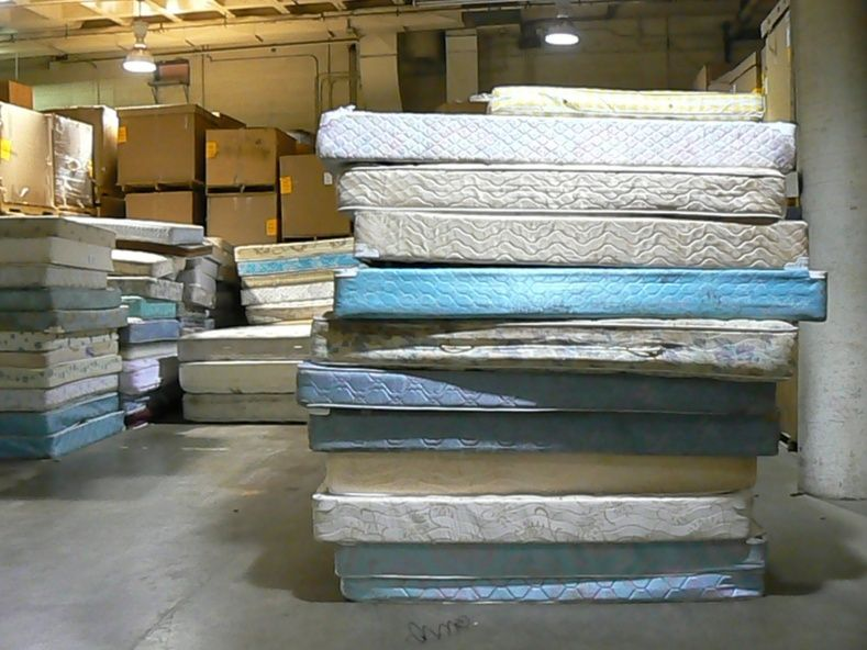 Pile of old mattresses