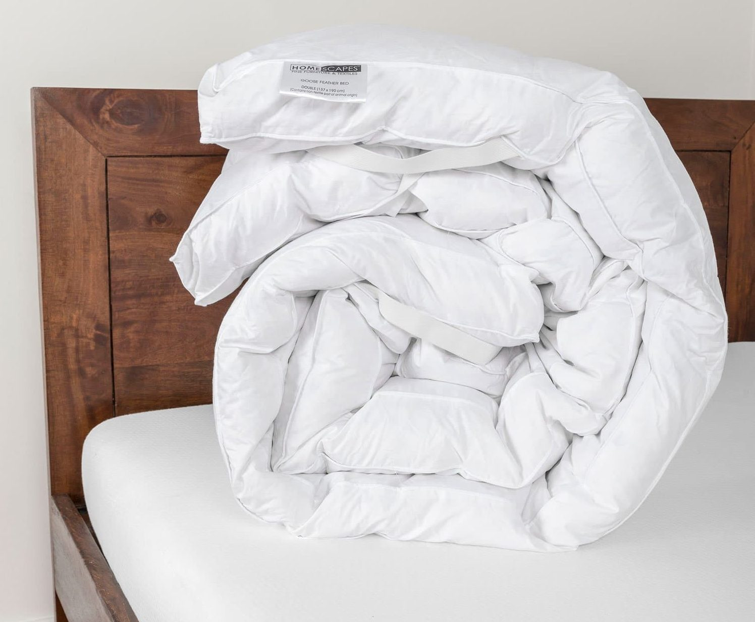 Homescapes - Soft New White Goose Feather Bed