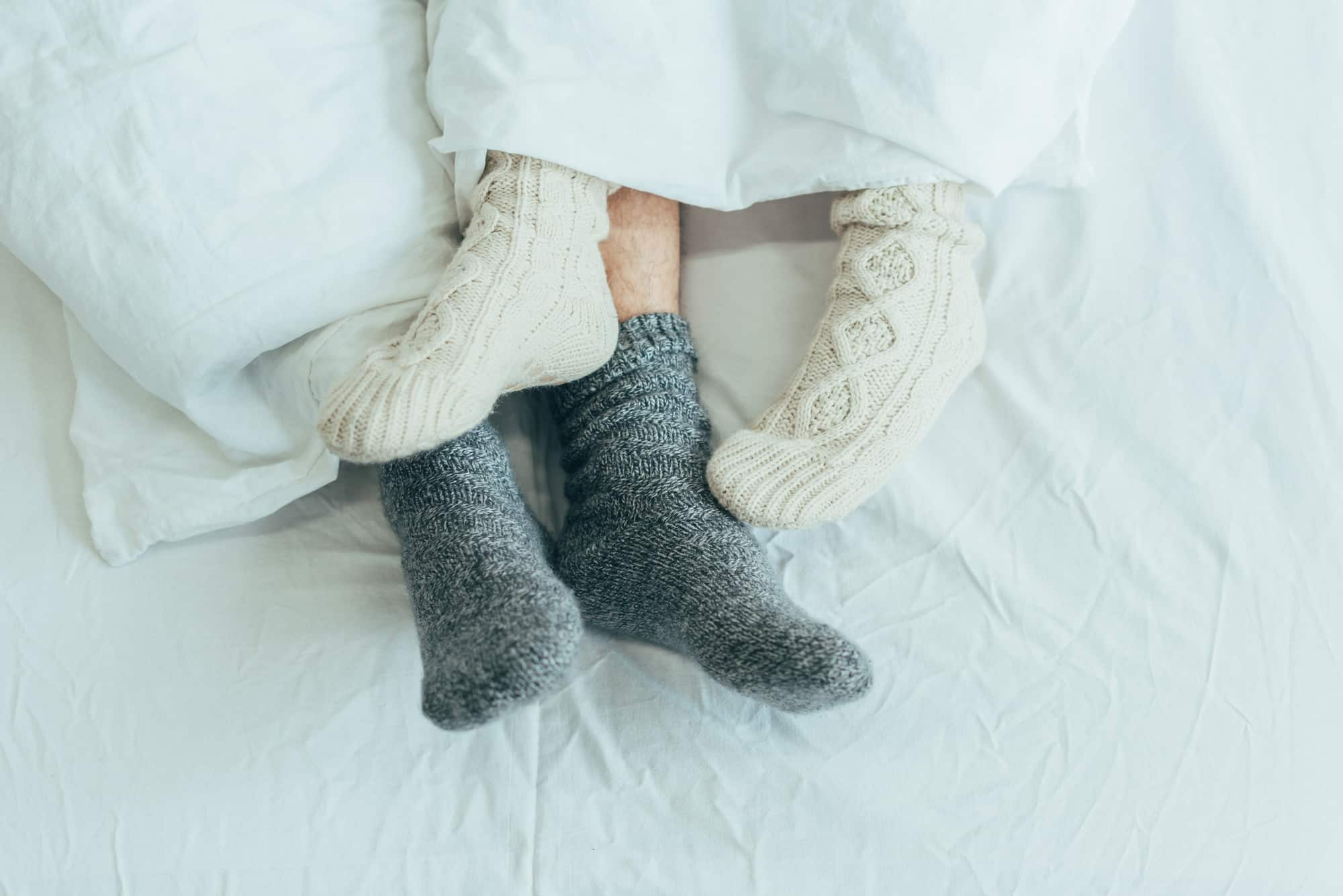 Wearing socks to bed