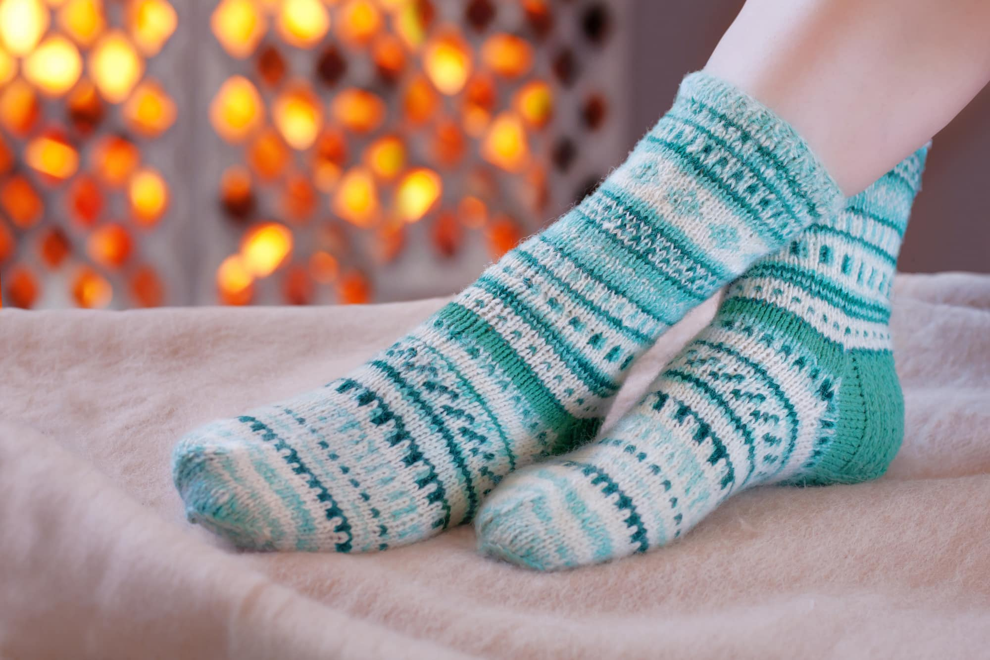 Woolen socks for sleeping