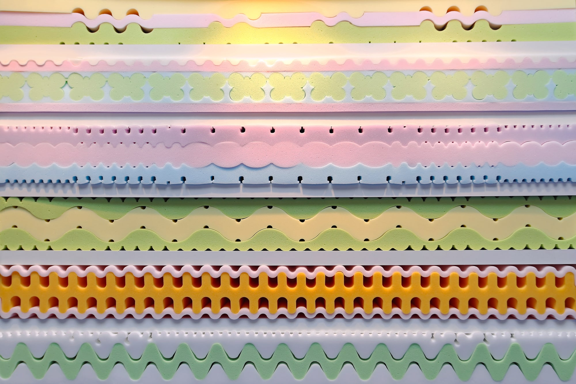 Memory foam mattress layers